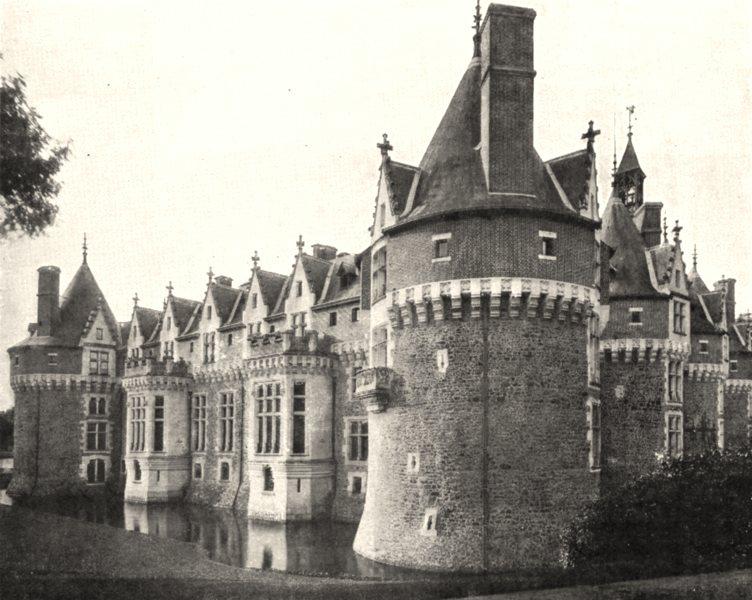 Associate Product SARTHE. Chateau de Bonnétable 1900 old antique vintage print picture