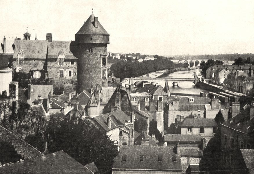 Associate Product MAYENNE. Laval et la Mayenne. Vue Générale prise du Jardin des plantes 1900