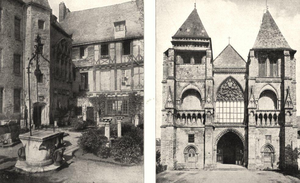 Associate Product SARTHE. Mans. Maison Reine Bérengère; Église Notre- dame- de- couture 1900