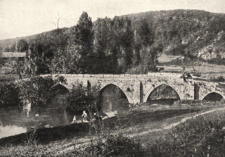 Associate Product VENDÉE. Vouvent et sa Forêt. Le pont des ouillères, a Mervent 1900 old print