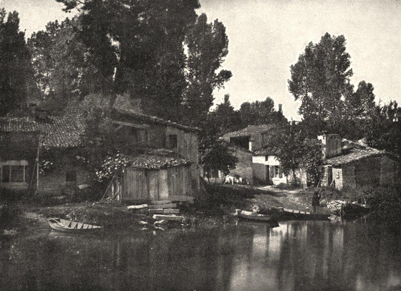 Associate Product DEUX- SÈVRES. Habitations des Marais de la Sèvre Niortaise 1900 old print