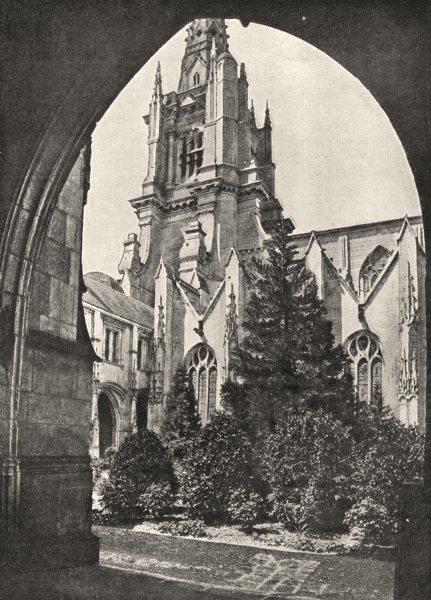 Associate Product VENDÉE. Luçon. La Cathédrale vue de L'évêché 1900 old antique print picture
