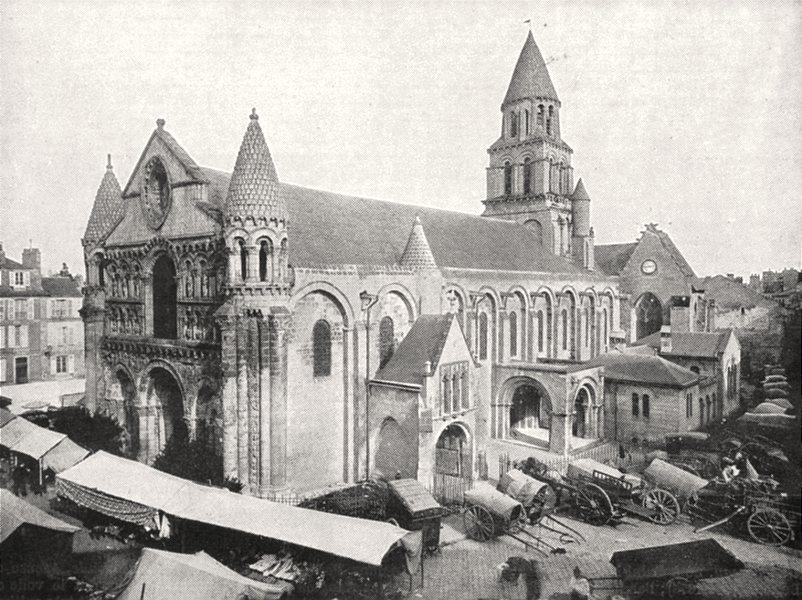 VIENNE. Poitiers. Notre- dame- la- Grande 1900 old antique print picture