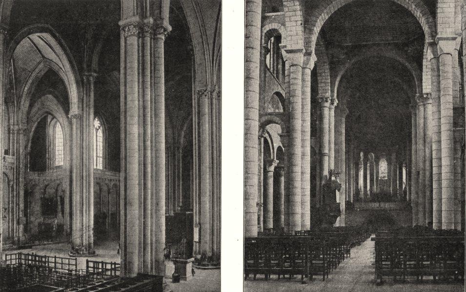 Associate Product VIENNE. Intérieur de cathédrale St- Pierre; Église- hilaire- le  1900 print