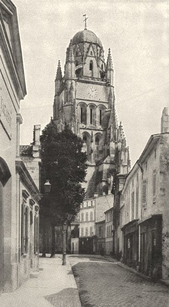 Associate Product CHARENTE- MARITIME. Saintes. Cathédrale Saint- Pierre 1900 old antique print