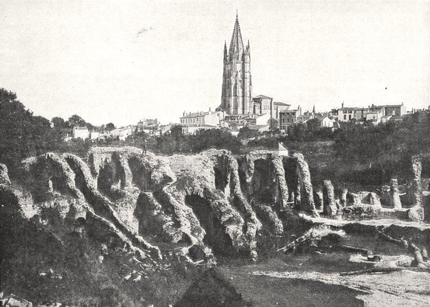 Associate Product CHARENTE- MARITIME. Saintes. Ruins Arènes Romaines Clocher St- Eutrope 1900