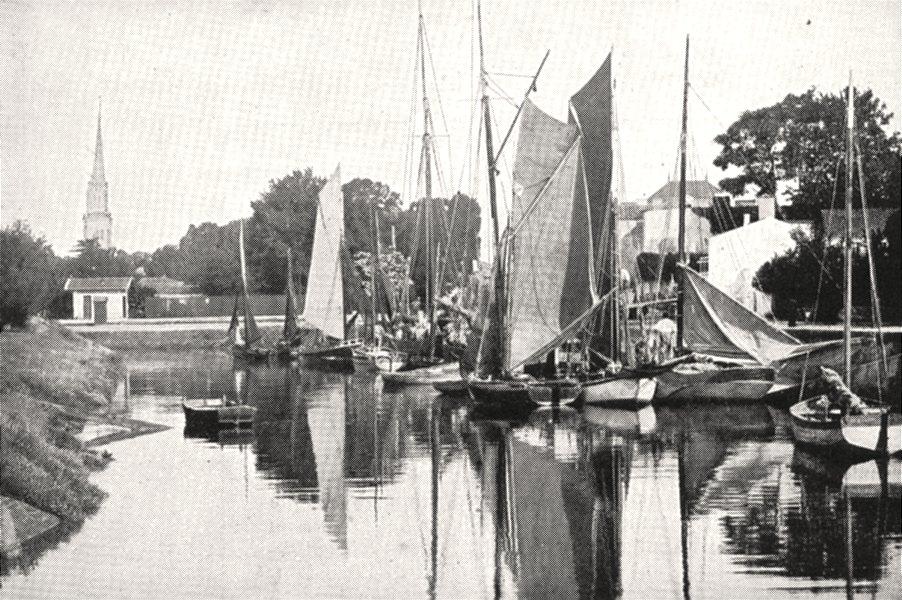Associate Product CHARENTE- MARITIME. Port de la Tremblade 1900 old antique print picture