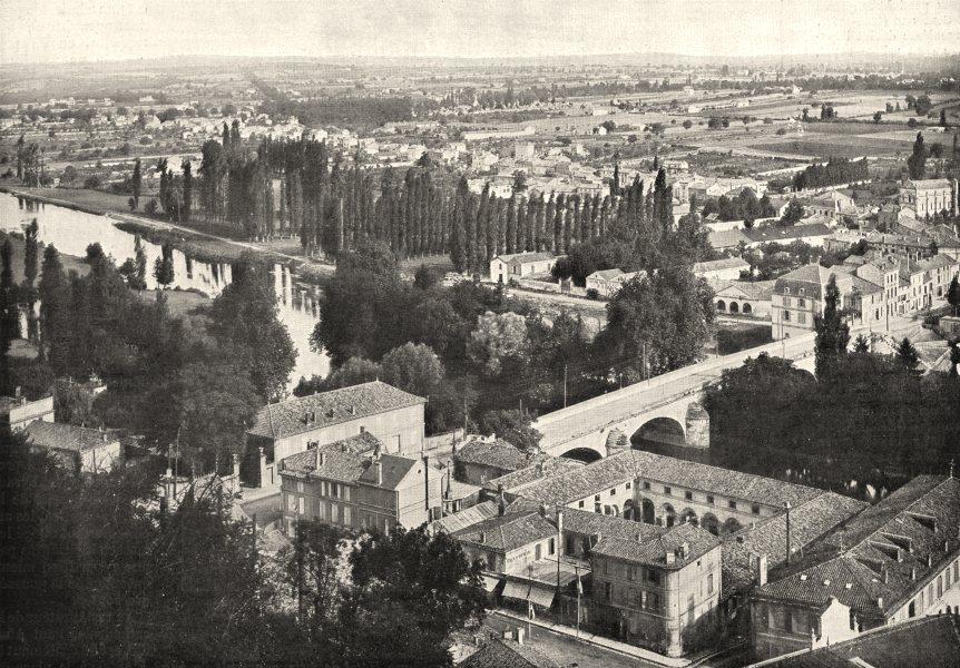 Associate Product CHARENTE. Angoulême. Vue sur Saint- Cybard 1900 old antique print picture