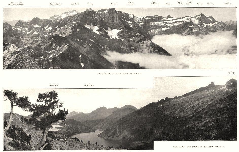 Associate Product HAUTES- PYRÉNÉES. Calcaires de Gavarnie; Grantiques du Néouvieille 1900 print