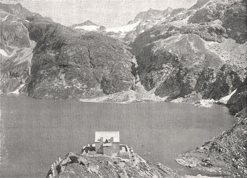 Associate Product HAUTES- PYRÉNÉES. Lac de Caillaouas 1900 old antique vintage print picture