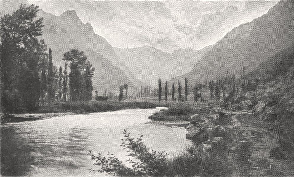 Associate Product ARIÈGE. Vallée D'orlu. L'oriége 1900 old antique vintage print picture