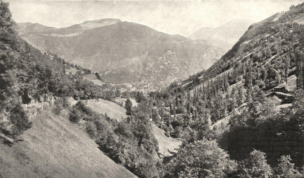 Associate Product HAUTE- GARONNE. Parages de Luchon. Vallée de Larboust 1900 old antique print