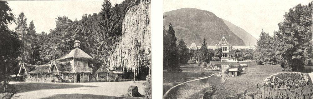 Associate Product HAUTE- GARONNE. Buvette du Pré, a Luchon; Parc et Casino de Luchon 1900 print