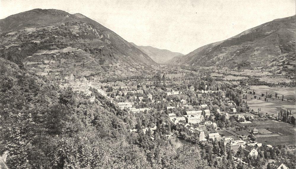 Associate Product HAUTE- GARONNE. Vallée de Luchon; vue prise de la Chaumière 1900 old print