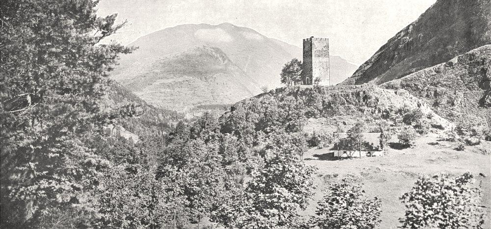 HAUTE- GARONNE. Région de Luchon. Tour de castel- vieil 1900 old antique print