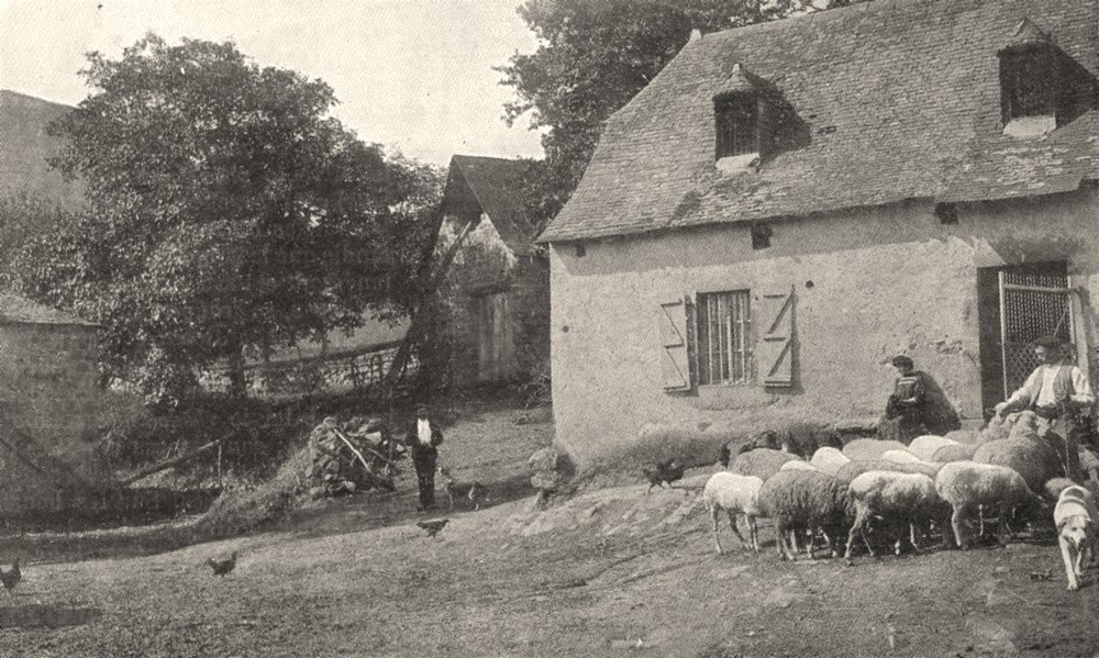 Associate Product FRANCE. Une Ferme dans les Pyrénées 1900 old antique vintage print picture