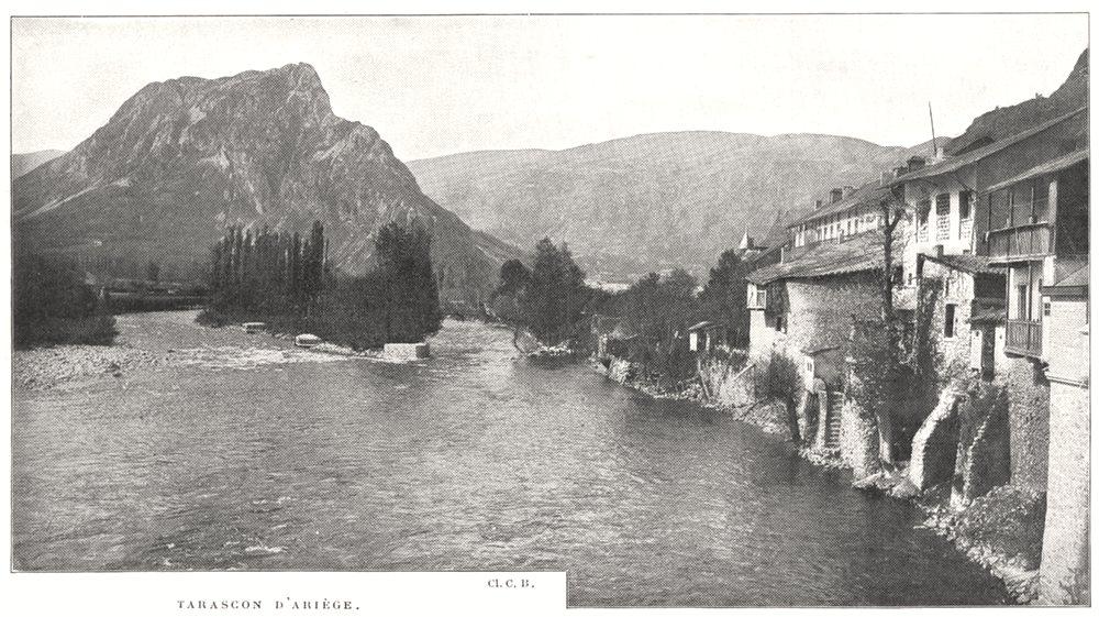 Associate Product BOUCHES- DU- RHÔNE. Tarascon D'ariège 1900 old antique vintage print picture