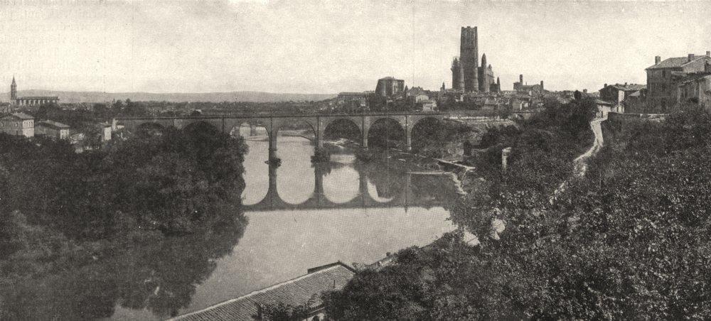 Associate Product TARN. Albi et le cours du Tarn 1900 old antique vintage print picture