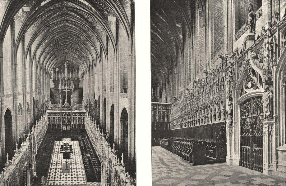 Associate Product TARN. Intérieur de la Cathédrale D'albi; Stalles du Choeur 1900 old print