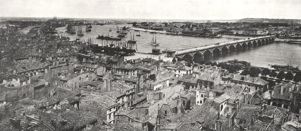 Associate Product GIRONDE. Panorama de Bordeaux 1900 old antique vintage print picture