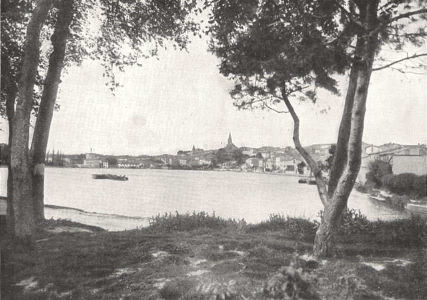 Associate Product AUDE. Castelnaudary et le Grand Bassin 1900 old antique vintage print picture