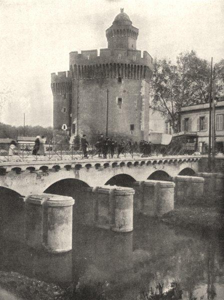 Associate Product PYRÉNÉES- ORIENTALES. Le Castillet, a Perpignan 1900 old antique print picture