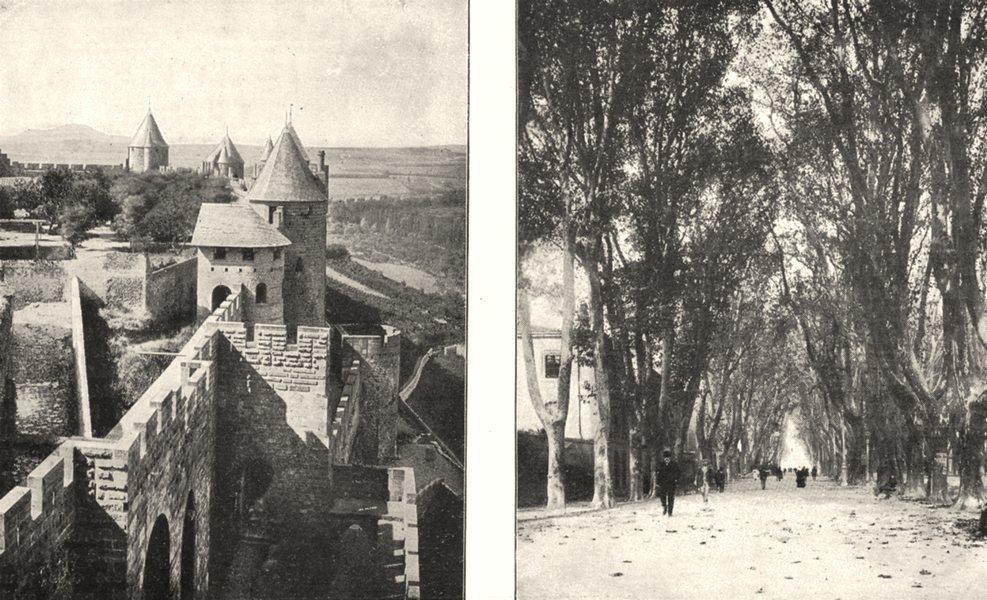 Associate Product AUDE. Cité. Tour des Wisigoths; Carcassonne. Boulevard de la Préfecture 1900