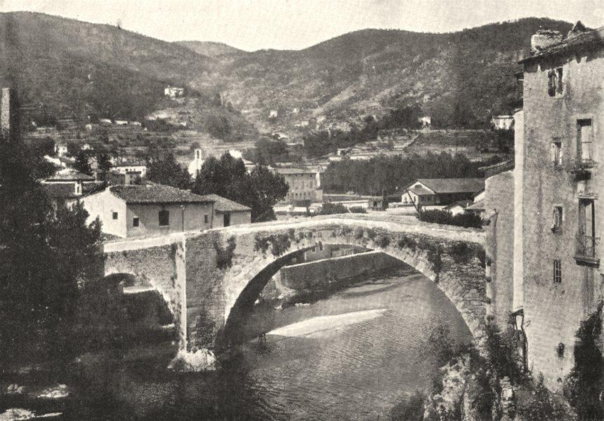 Associate Product GARD. Le vigan. Vieux Pont sur L'arre 1900 old antique vintage print picture