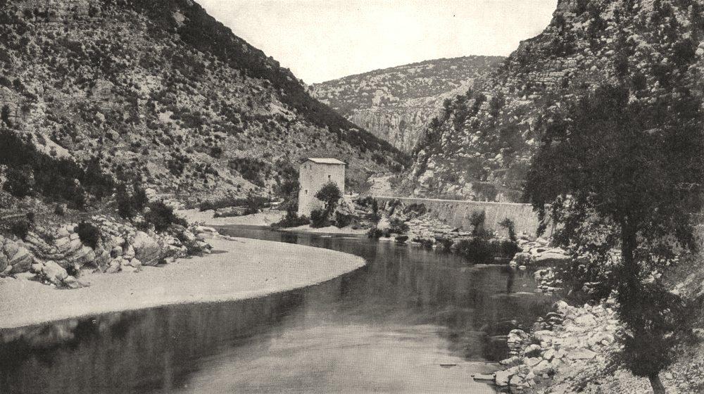 Associate Product HÉRAULT. Gorges de L'hérault, a Saint- Guilhem- le- Désert 1900 old print