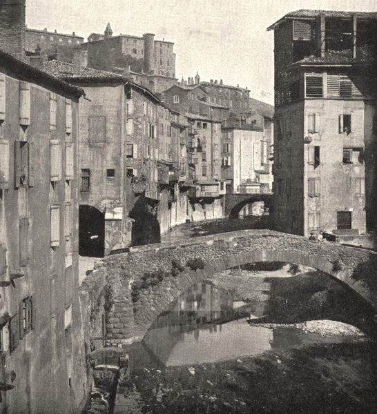 Associate Product ARDÈCHE. Une rue D'annonay 1900 old antique vintage print picture