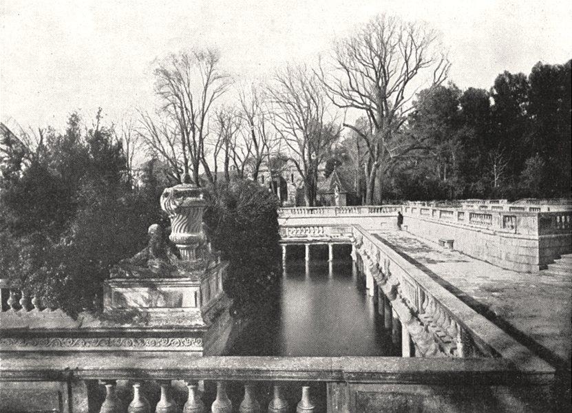 Associate Product GARD. Nimes. Le Jardin de la Fontaine 1900 old antique vintage print picture