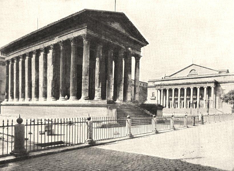 Associate Product GARD. La Maison Carrée 1900 old antique vintage print picture