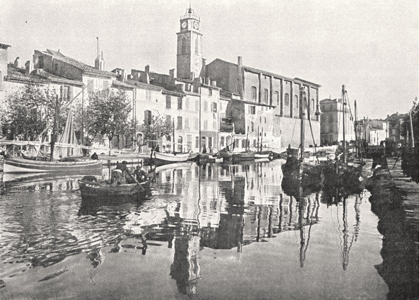 BOUCHES- DU- RHÔNE. Martigues. Le canal Saint- Sébastien 1900 old print