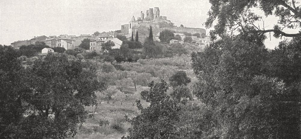 Associate Product VAR. Chateau de Grimaud 1900 old antique vintage print picture
