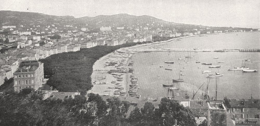 Associate Product ALPES- MARITIMES. Cannes, Vue Prise du Mont Chevalier 1900 old antique print