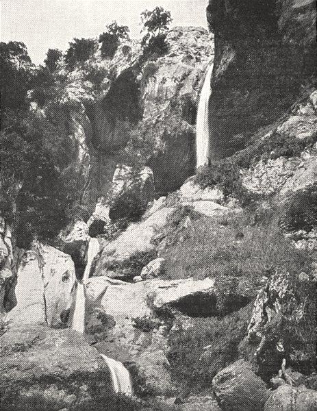 Associate Product ALPES- MARITIMES. Cascade du Loup 1900 old antique vintage print picture
