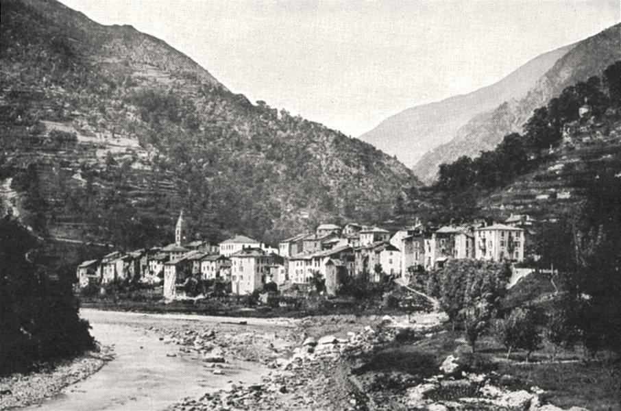 Associate Product ALPES- MARITIMES. Saint- Sauveur (Vallée de la Tinée)  1900 old antique print
