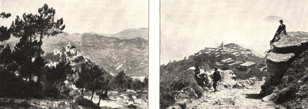 Associate Product ALPES- MARITIMES. Roquette (Vallée de Vésubie) ; Utelle 1900 old antique print
