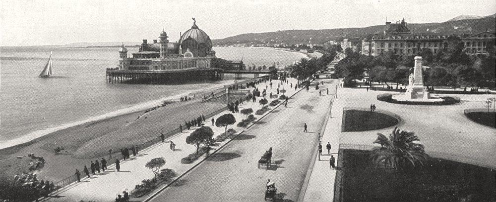 Associate Product ALPES- MARITIMES. Nice. Promenade des Anglais 1900 old antique print picture