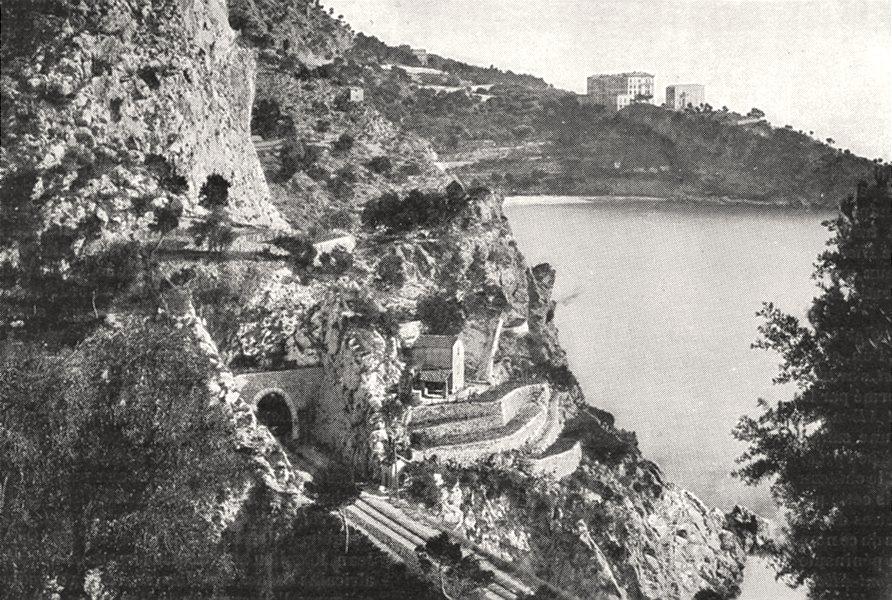 Associate Product ALPES- MARITIMES. Route de Nice a Monaco 1900 old antique print picture