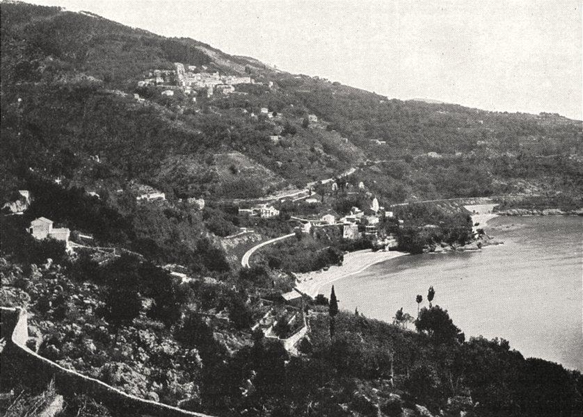 Associate Product ALPES- MARITIMES. Route de la Corniche, a Roquebrune 1900 old antique print
