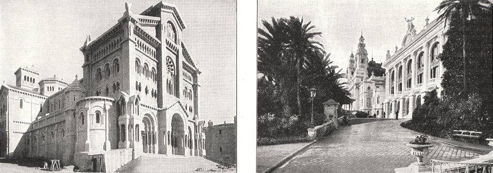 Associate Product MONACO. Cathédrale de Monaco; Casino et Théatre de Monte- carlo 1900 old print