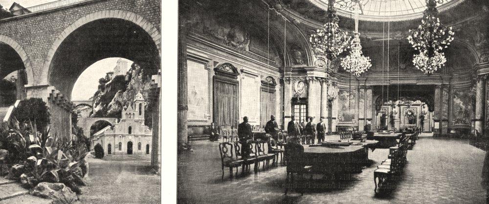 Associate Product MONACO. Chapelle de Sainte- dévote; Les salons de Jeu, a Monte- Carlo 1900