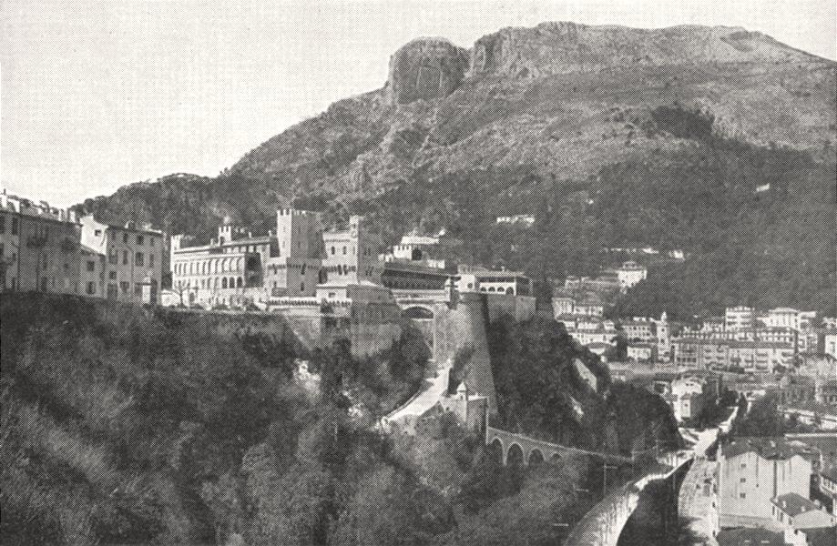 Associate Product MONACO. Le Palais du Prince, a Monaco 1900 old antique vintage print picture