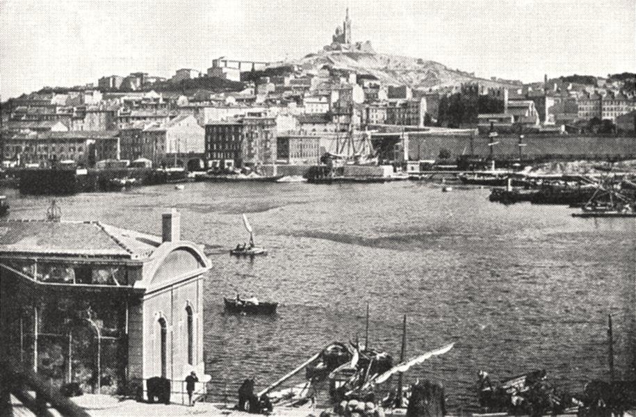 Associate Product BOUCHES- DU- RHÔNE. Marseille. Consigne, Vieux port Notre- Dame Garde 1900