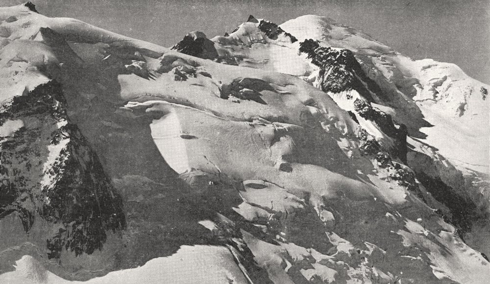 Associate Product HAUTE- SAVOIE. Le Mont blanc et le Mont Maudit 1900 old antique print picture