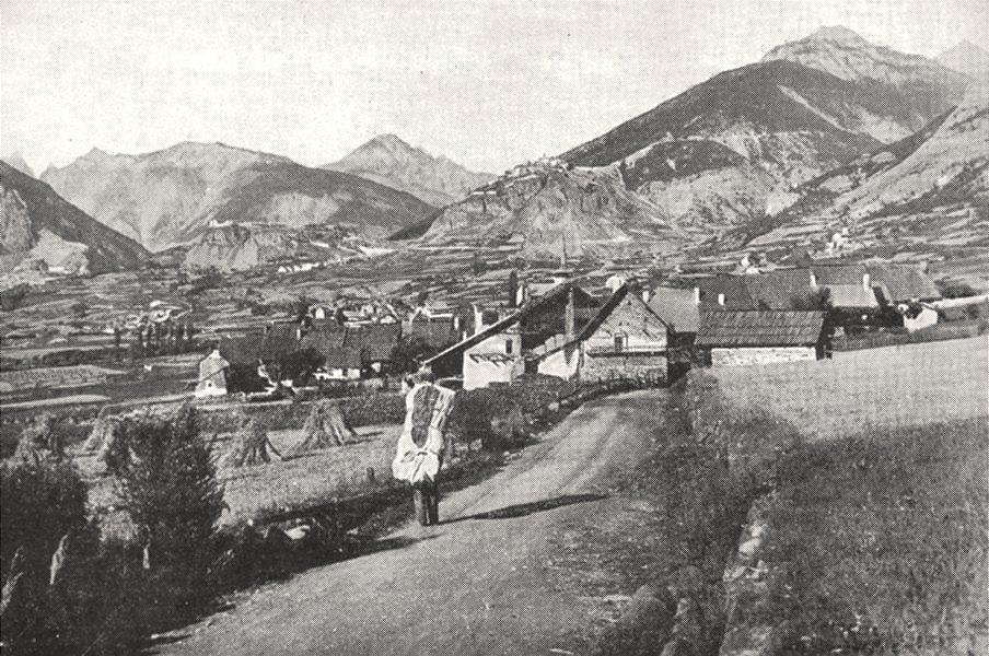 Associate Product HAUTES- ALPES. Les grands- Villars; Au fond, A L'ouest, le Chaberton 1900