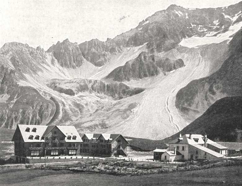 Associate Product HAUTES- ALPES. Le Lautaret et le Combeynot 1900 old antique print picture