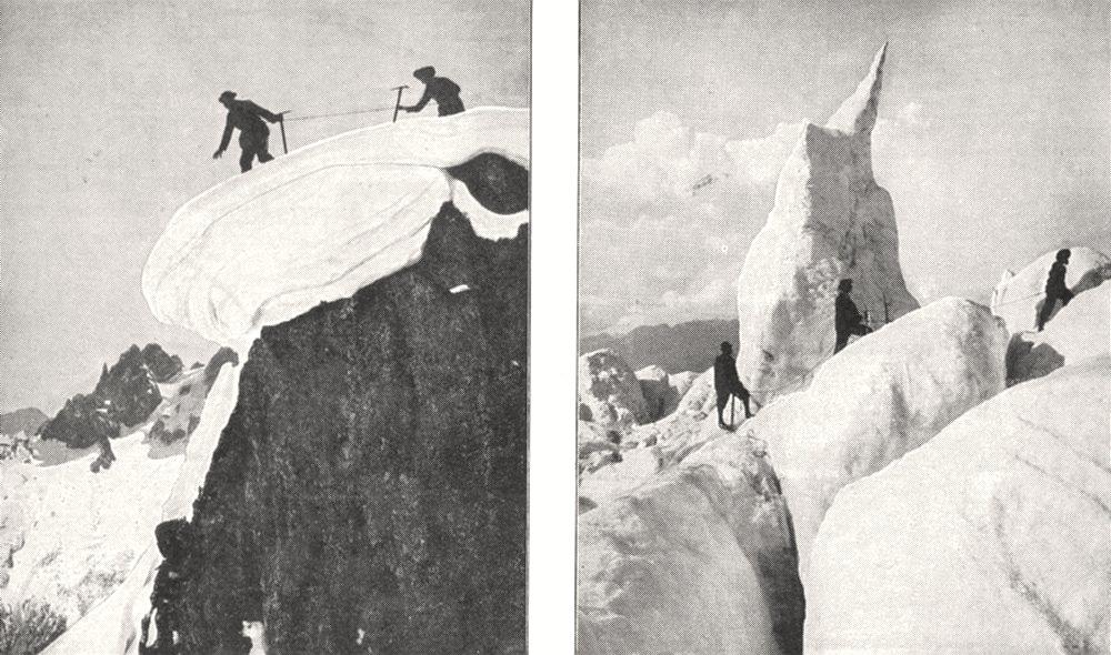 Associate Product FRANCE. Guides en Reconnaissance; A Travers les Séracs 1900 old antique print