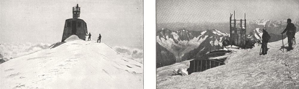 Associate Product HAUTE- SAVOIE. L'observatoire Janssen Début; État Actuel de 1900 old print
